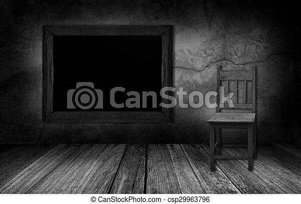 Graue , stein, zimmer, wand, tafel, holz, inneneinrichtung ...