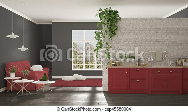 Graue zimmer klassisch raum wei es kueche for Wohnung inneneinrichtung design