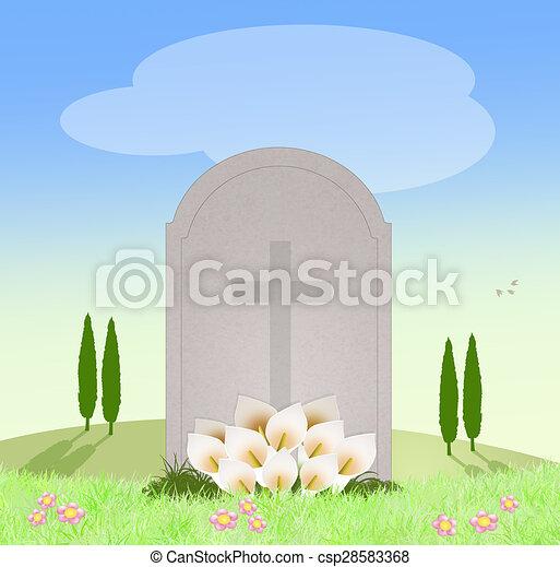 grav, kyrkogård - csp28583368