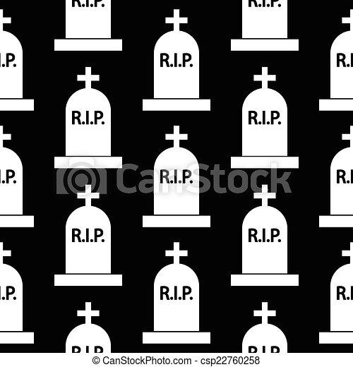 Grave icon seamless pattern - csp22760258