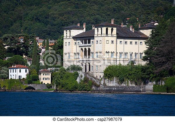 Gravedona in Lake Como, italy - csp27987079