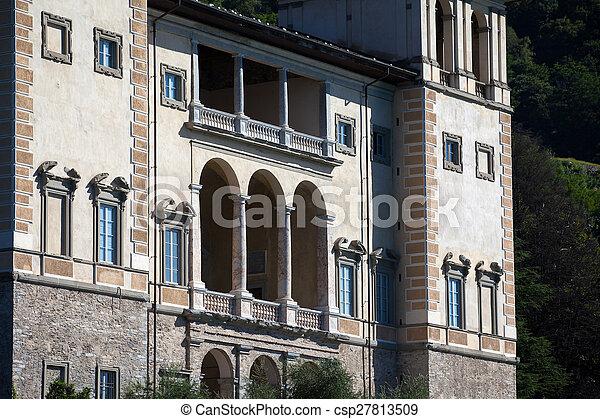Gravedona in Lake Como, italy - csp27813509