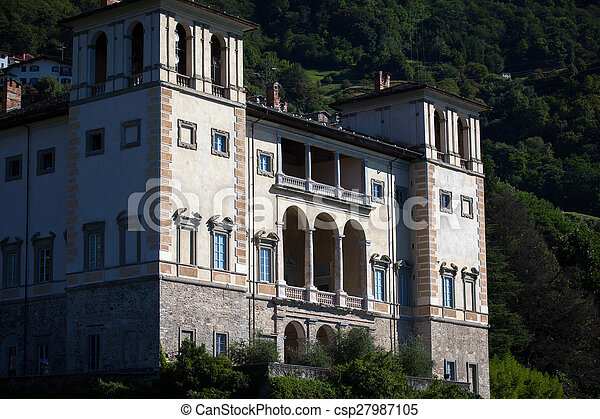 Gravedona in Lake Como, italy - csp27987105