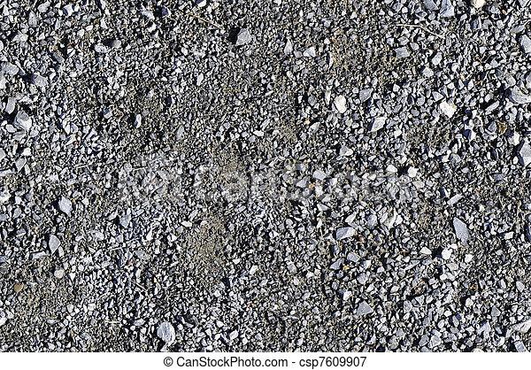 Gravel ground texture - csp7609907