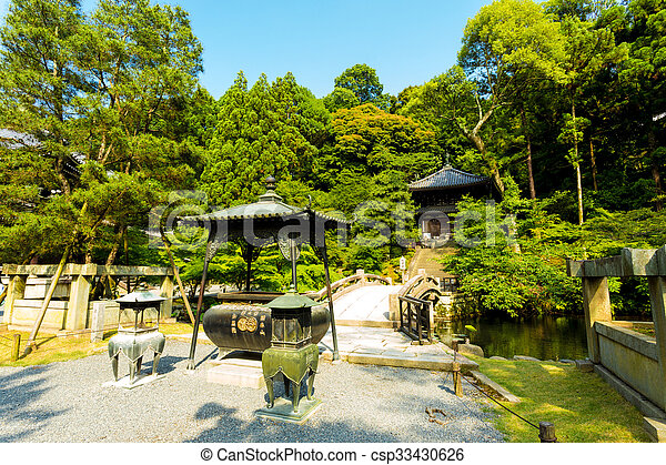 Gravel Path Stone Bridge Chion In Temple Kyoto Part Of Japanese