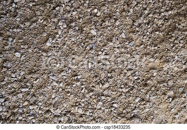 Gravel, pebbles and sand closeup - csp18433235