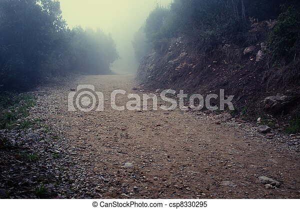 Gravel road in the mountains - csp8330295