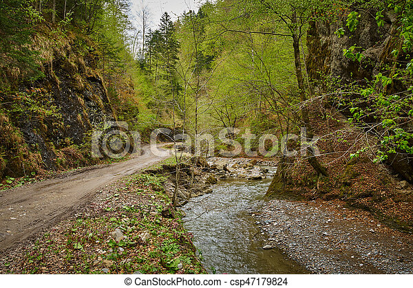 Gravel road in the mountains - csp47179824