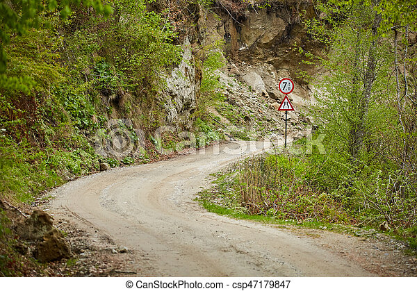 Gravel road in the mountains - csp47179847