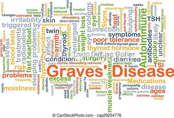 graves', concept, maladie, fond - csp29254776