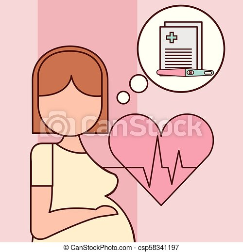 gravidez, relatado, fertilização - csp58341197