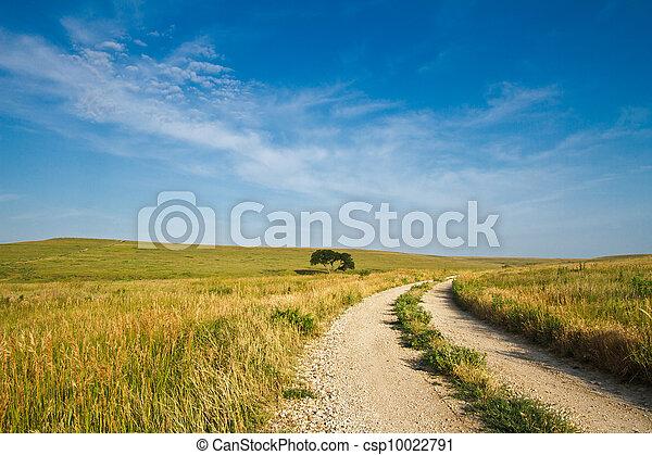 gravier, collines silex, route - csp10022791
