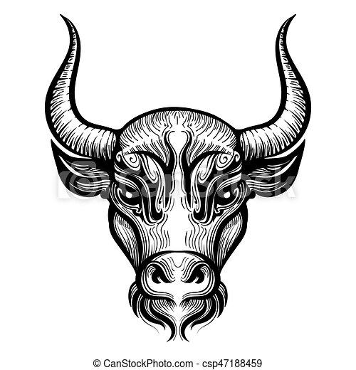 Gravure t te illustration taureau gravure t te - Dessin de toro ...