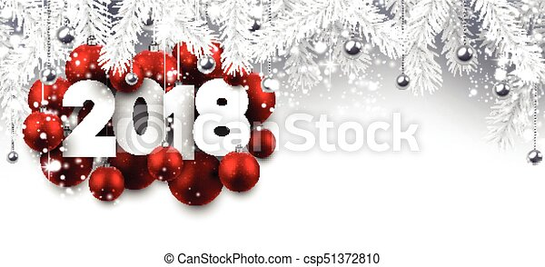 gray 2018 new year banner csp51372810