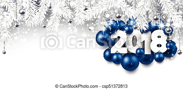 gray 2018 new year banner csp51372813