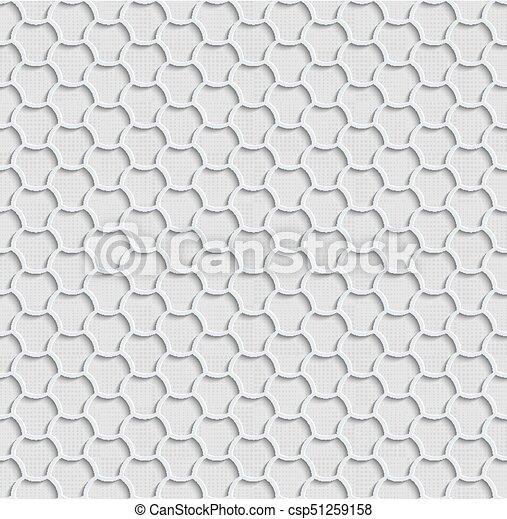 Gray 3d Seamless Web Hexagon Pattern. - csp51259158