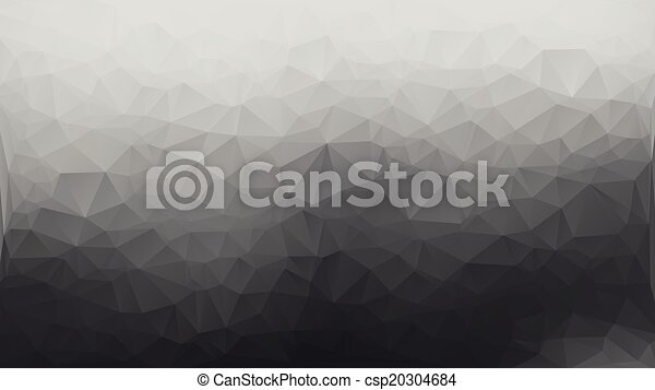 Gray and white abstract polygon triangle background - csp20304684
