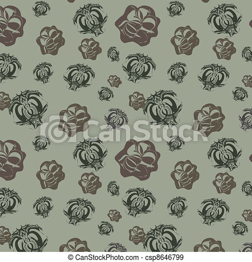 Gray background with abstract eleme - csp8646799