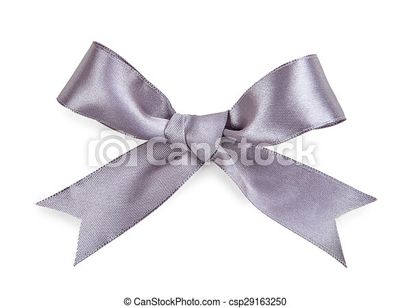 Gray bow isolated on white background - csp29163250