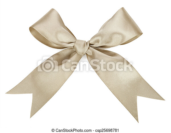 Gray bow isolated on white - csp25698781