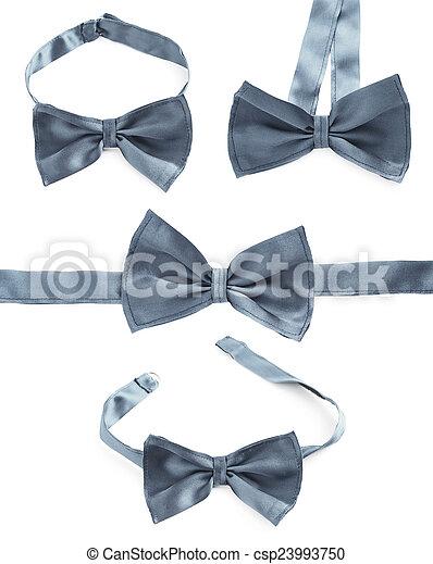Gray bow tie isolated - csp23993750