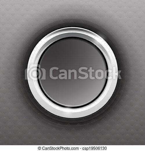 Gray button - csp19506130
