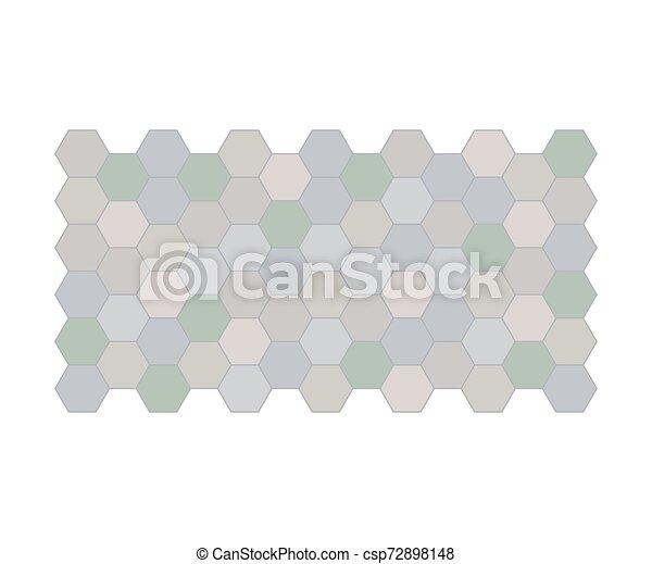 Gray garden path. View from above. Vector illustration on a white background. - csp72898148