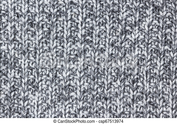 Gray Knitted Wool Texture Detail Of A Chunky Warm Blanket Canstock