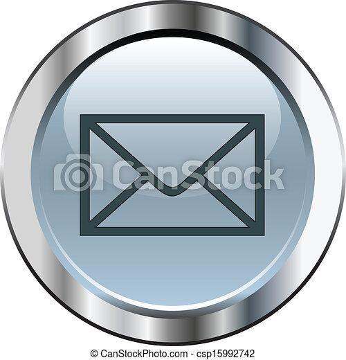 Gray mail button - csp15992742