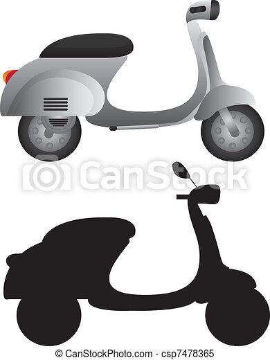 gray motorbike - csp7478365