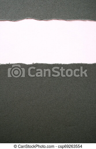 gray paper torn ripped strip white background vertical can stock photo