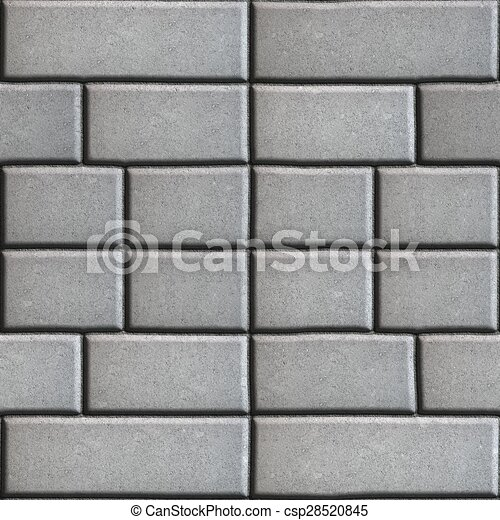 Gray Paving Slabs in the Form Rectangles of Different Value. - csp28520845