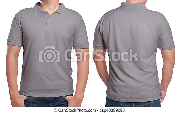 Gray Polo Shirt Design Template