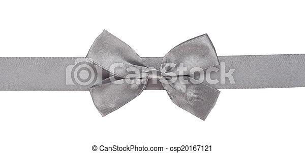 gray ribbon with bow - csp20167121
