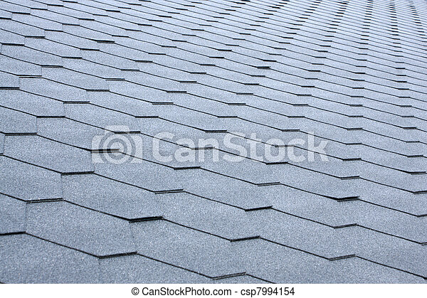 Gray tile roof - csp7994154