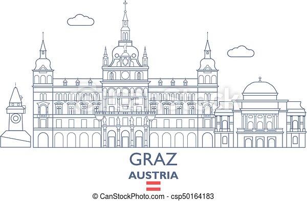 Graz travel Vector Clipart Illustrations 42 Graz travel clip art