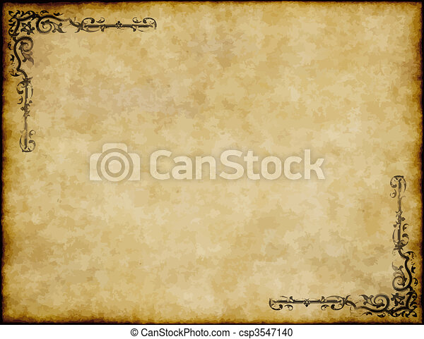 great background of old parchment paper texture with ornate design - csp3547140