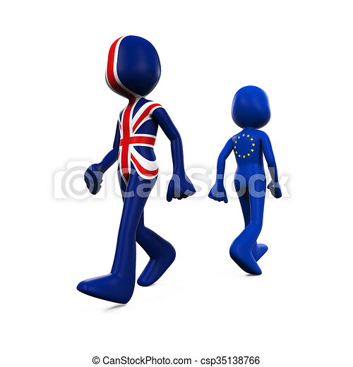 Great Britain and EU Character - csp35138766