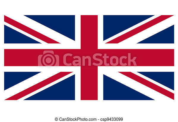Great Britain flag against a white background - csp9433099