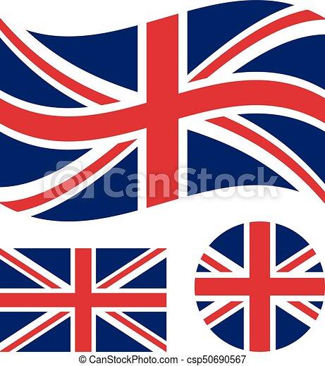 great britain flag set rectangular waving and circle union jack rh canstockphoto com union jack flag vector free union jack vector art free