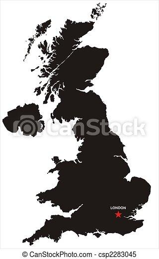 Great Britain Map - csp2283045