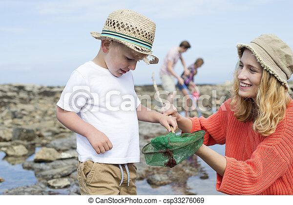 Great Catch Mummy! - csp33276069