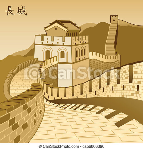 Great Chinese Wall - csp6806390