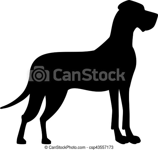 great dane black silhouette rh canstockphoto com great dane clip art free great dane clip art free