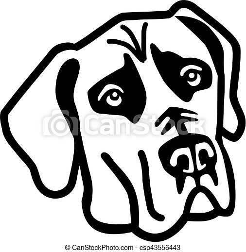 great dane head eps vector search clip art illustration drawings rh canstockphoto com  great dane clip art free