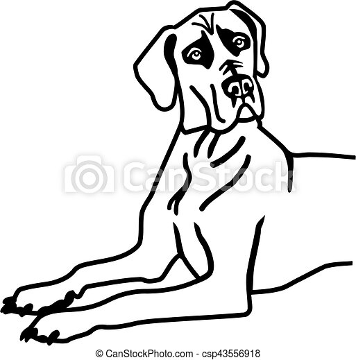 great dane lying vector clip art search illustration drawings rh canstockphoto com