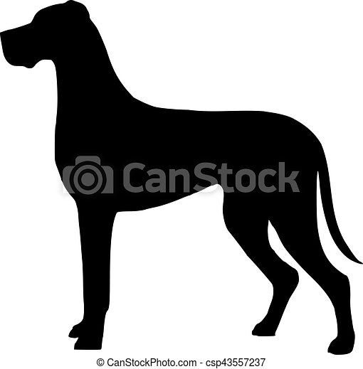 great dane silhouette rh canstockphoto com great dane clipart free great dane clipart free