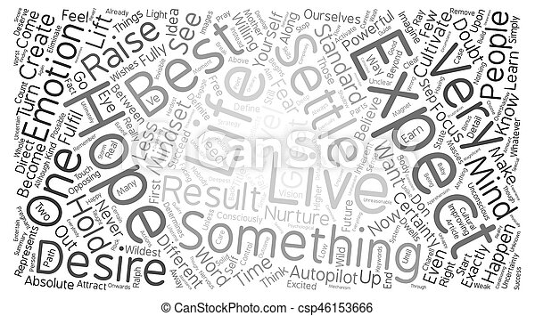 Great Expectations text background word cloud concept - csp46153666