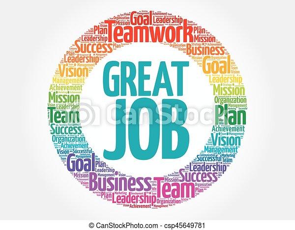 great job circle word cloud business concept