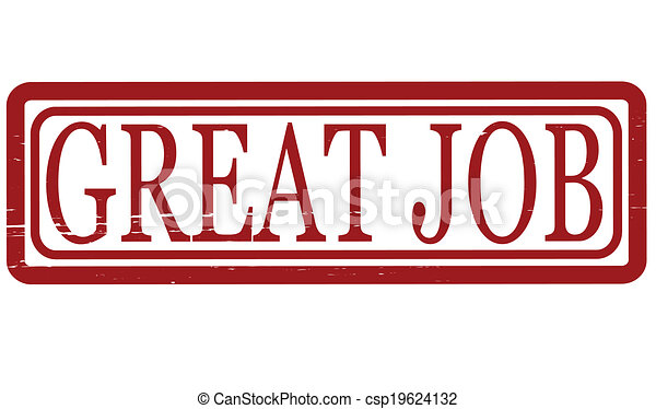 stamp with text great job inside vector illustration vectors rh canstockphoto com great job clip art funny great job clipart gif